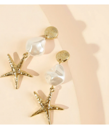 Starfish Charm Drop Earrings